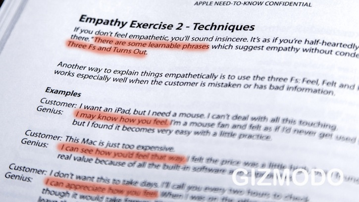 Apple's Secret Training Manual Empathy Exercises